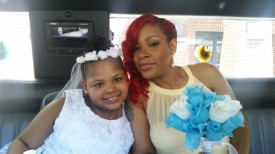 Maid of honor and my niece, Paris.