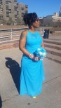 My sister Sasha. She caught the bouquet. ~_~